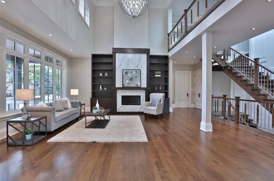 Family Room and Main Staircase