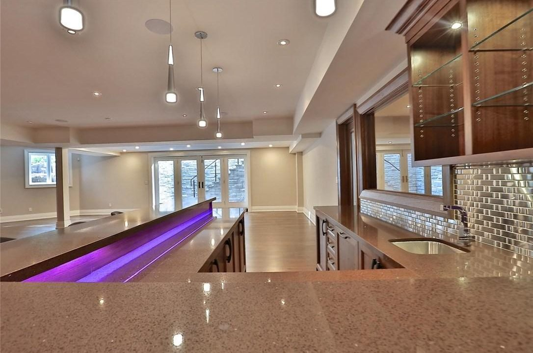 Bar and Rec Room with Walkout
