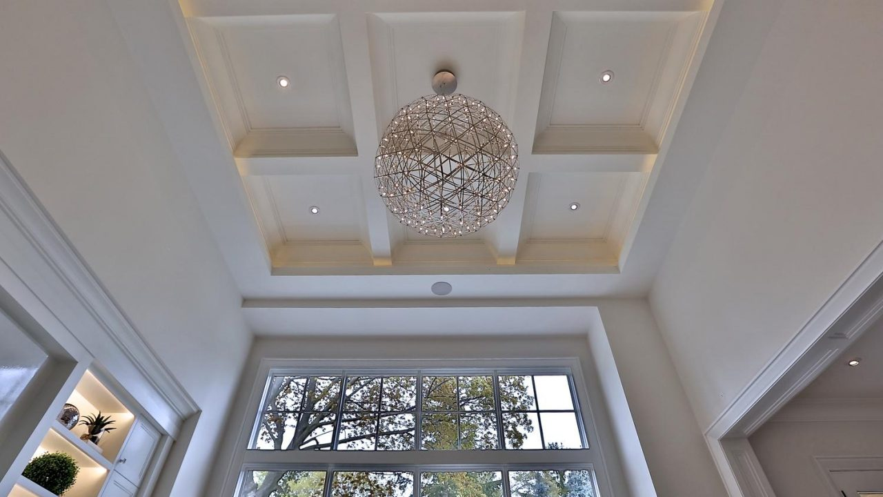 Coffered Ceiling in Family Room